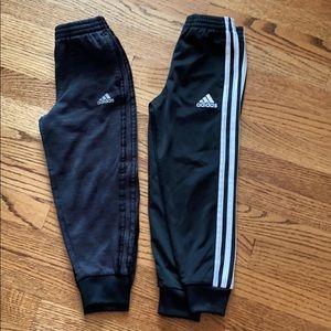 2 pairs adidas boys size 5t pants